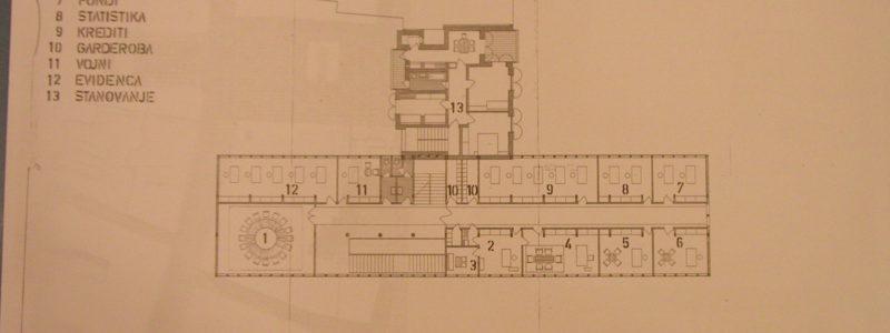 Narodna banka Koper - 1. Nadstropje M 1:100