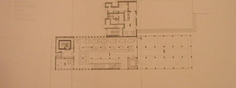 Narodna banka Koper - Pritličje M 1:100