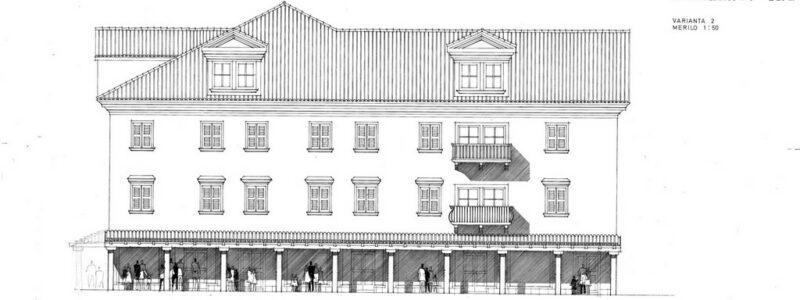 Fasada, Prešernov trg, varianta 2, merilo 1:50