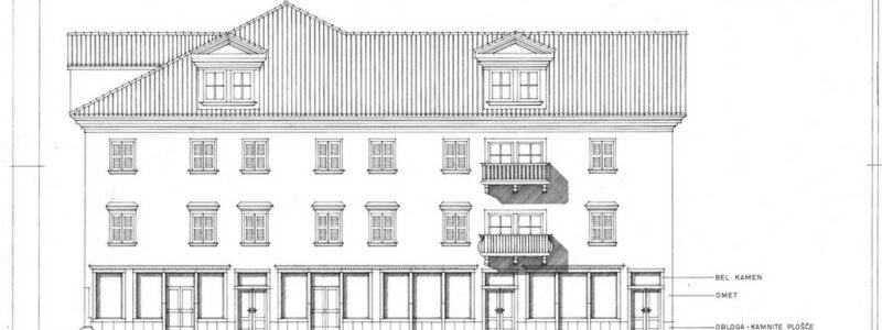 Fasada, Prešernov trg, Merilo 1:50