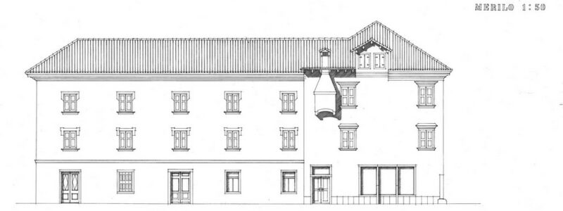Fasada, Tominčeva ulica, Merilo 1:50