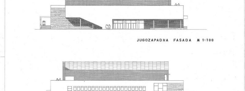 Kino dvorana Koper, jugozapadna in severovzhodna fasada