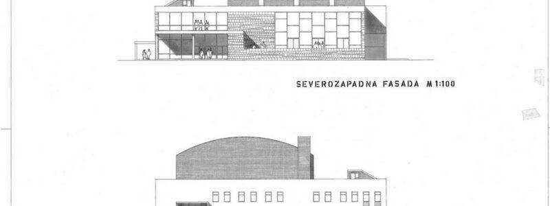 Kino dvorana Koper, severozapadna in jugovzhodna fasada