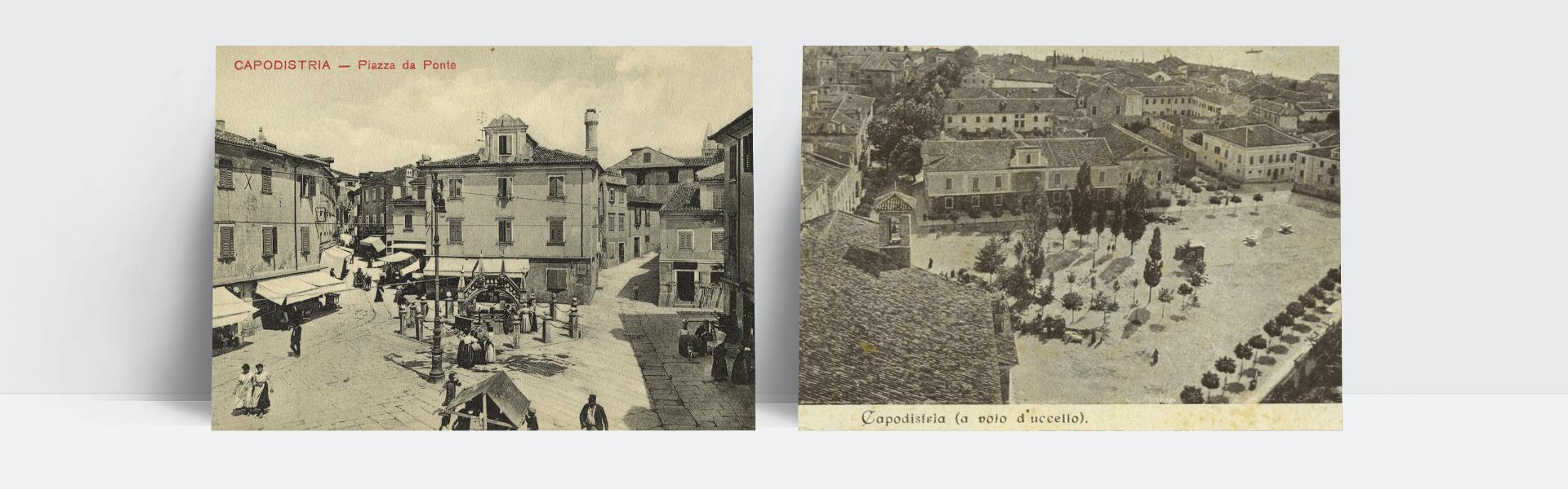 Fotografija starih razglednic iz Kopra